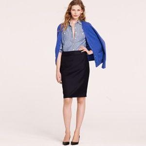 J. CREW Navy Pencil Skirt